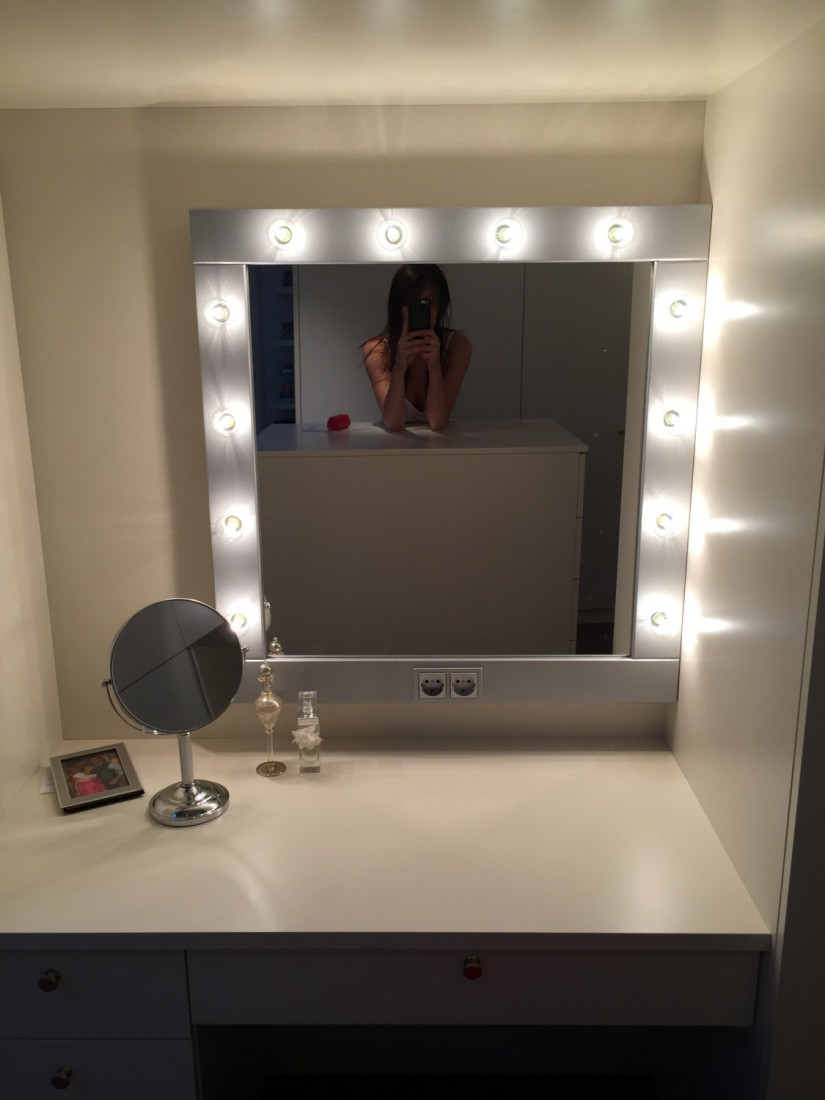 Lighted Bathroom Mirrors | Makeup Lighted Mirror Wall Mount | Lighted Wall Mirror