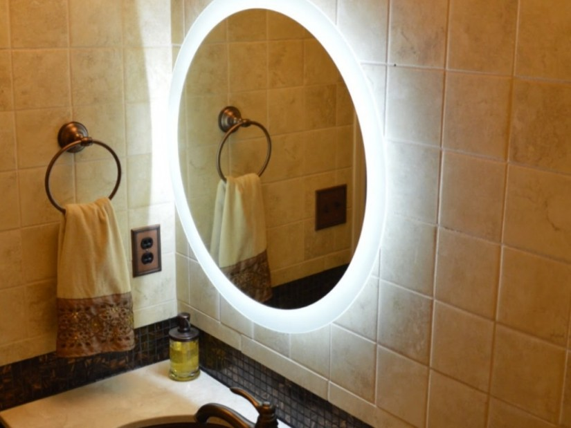 Lighted Mirrors For Bathrooms Modern | Wall Mounted Lighted Magnifying Bathroom Mirror | Lighted Wall Mirror