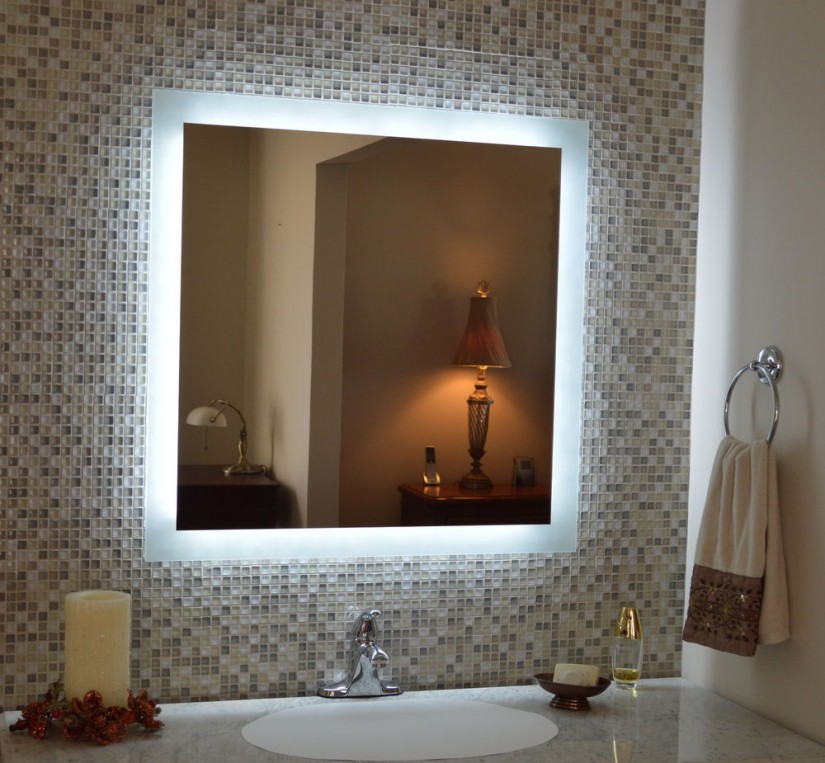 Lighted Wall Mirror | Bathroom Lighted Vanity Mirrors | Bathroom Mirror Illuminated