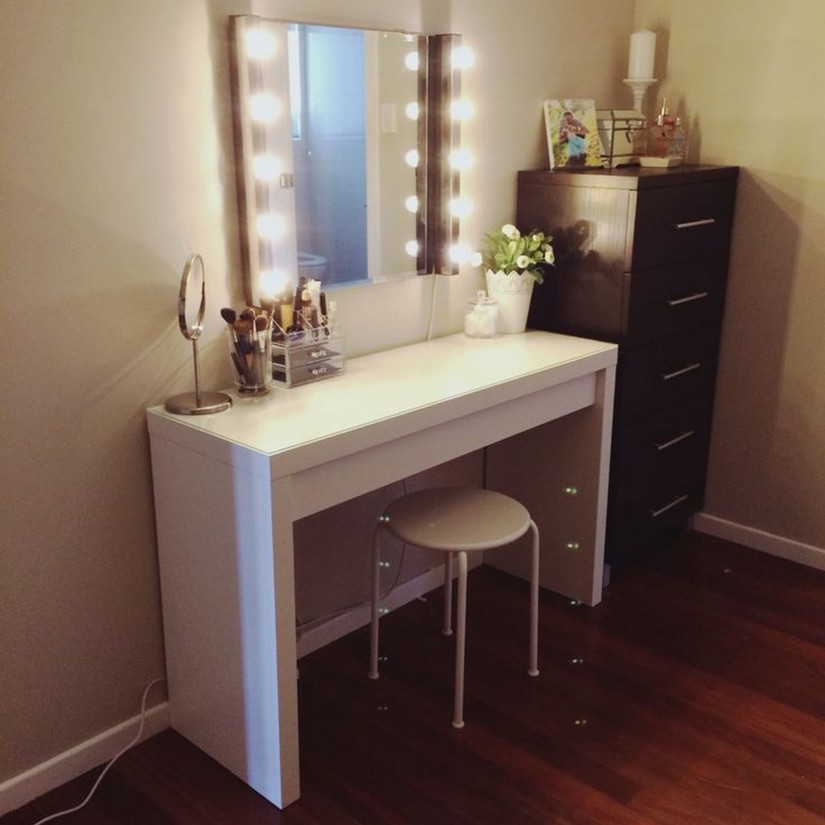 Lighted Wall Mirror | Lighted Bathroom Mirror Wall Mount | Lighted Makeup Mirror Wall Mounted