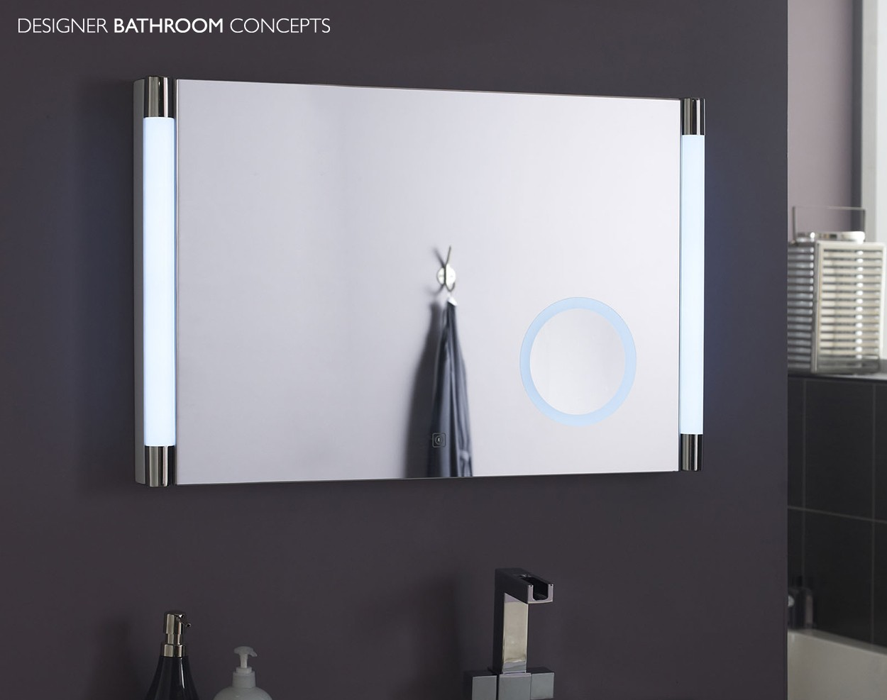 Mirrors: Wall Mounted Lighted Magnifying Bathroom Mirror | Lighted ...