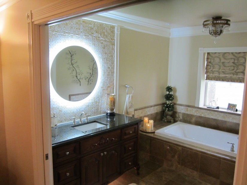 Lighted Wall Mirror | Makeup Mirror With Lights Wall Mounted | Wall Mounted Lighted Magnifying Bathroom Mirror