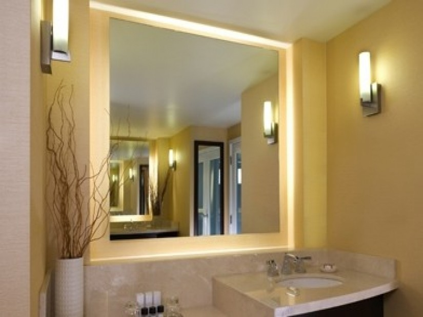 Lighted Wall Mirror | Wall Mount Makeup Mirror 10x Lighted | Wall Mounted Shaving Mirror With Light