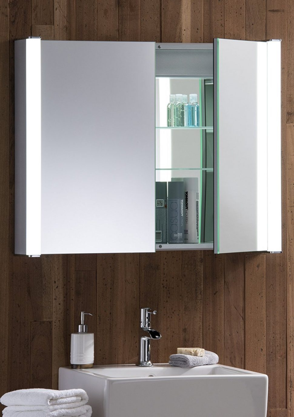 Mirrors: Lighted Wall Mirror | Wall Mounted Makeup Mirror Lighted ...