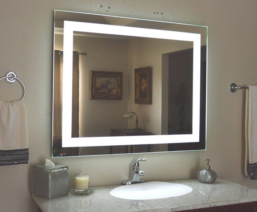 Lighted Wall Mirror | Zadro Wall Mount Mirror | Lighted Bathroom Mirror Wall Mount