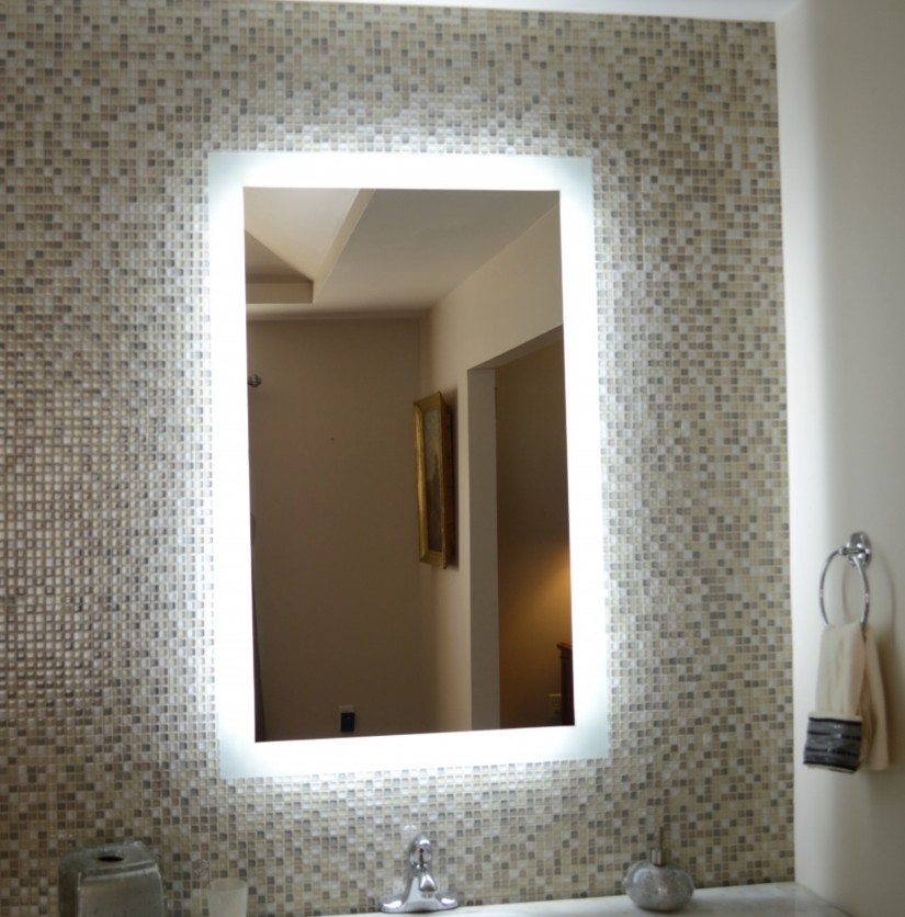 Lighted Wall Mounted Makeup Mirror | Lighted Wall Mirror | Lighted Wall Mount Makeup Mirror