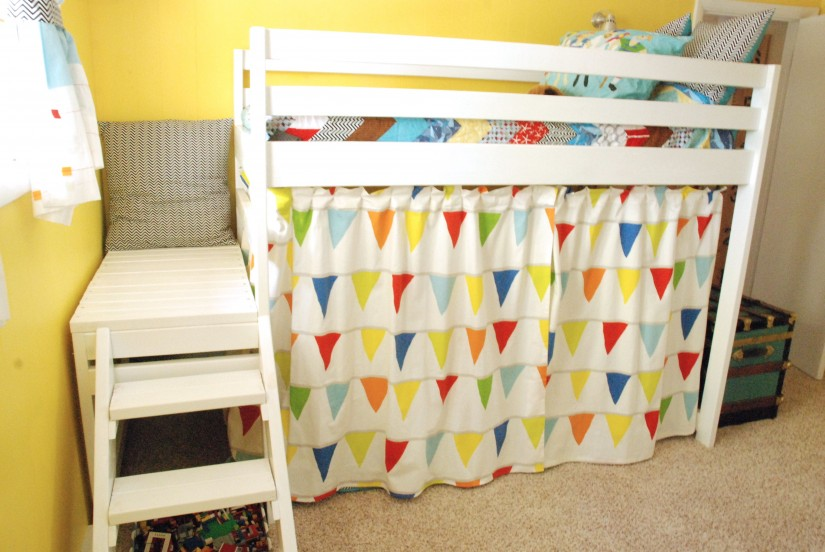 Loft Bed Playhouse Curtains | Loft Bed With Curtains | Bunk Bed Curtains
