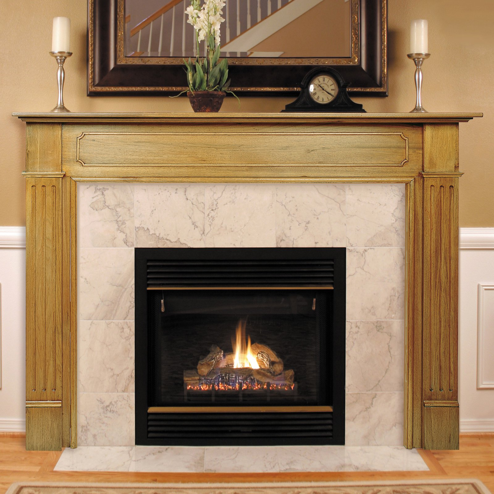 Lowes Fireplace Mantel | Unfinished Fireplace Mantels | Home Depot Mantel