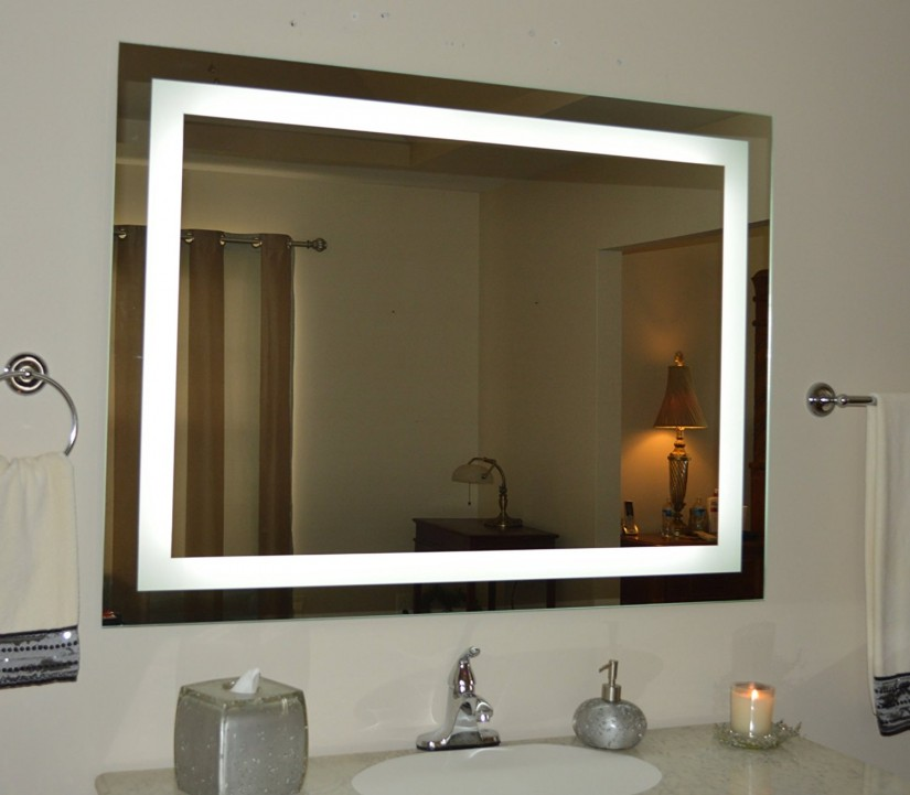 Makeup Mirror Lighted Wall Mount | Lighted Magnifying Mirror Wall Mount | Lighted Wall Mirror