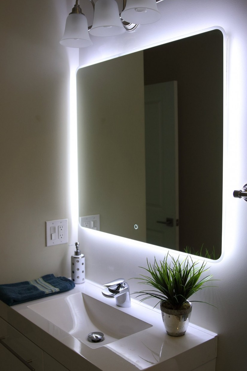 Makeup Mirror Wall Mounted Lighted   Lighted Wall Mirror   Makeup Lighted Mirror Wall Mount