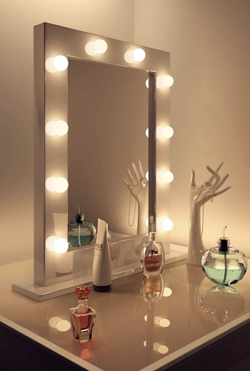 Makeup Mirror With Lights Wall Mounted | Lighted Wall Mount Magnifying Mirror | Lighted Wall Mirror