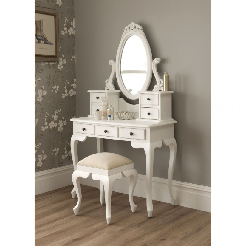 Mirror Glass Vanity | Discount Bedroom Vanity | Mirrored Vanity Set