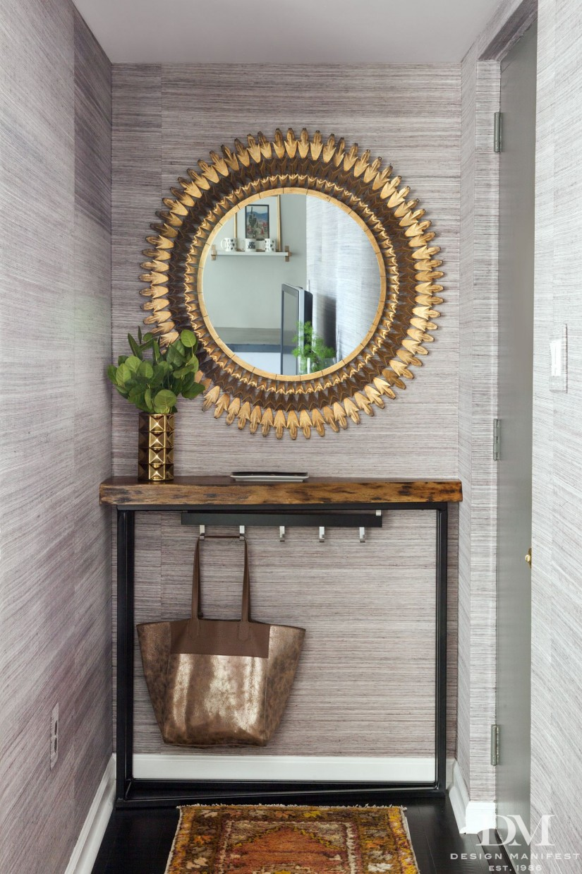 Mirror With Key Hooks | How To Decorate A Foyer Table | Entryway Mirror