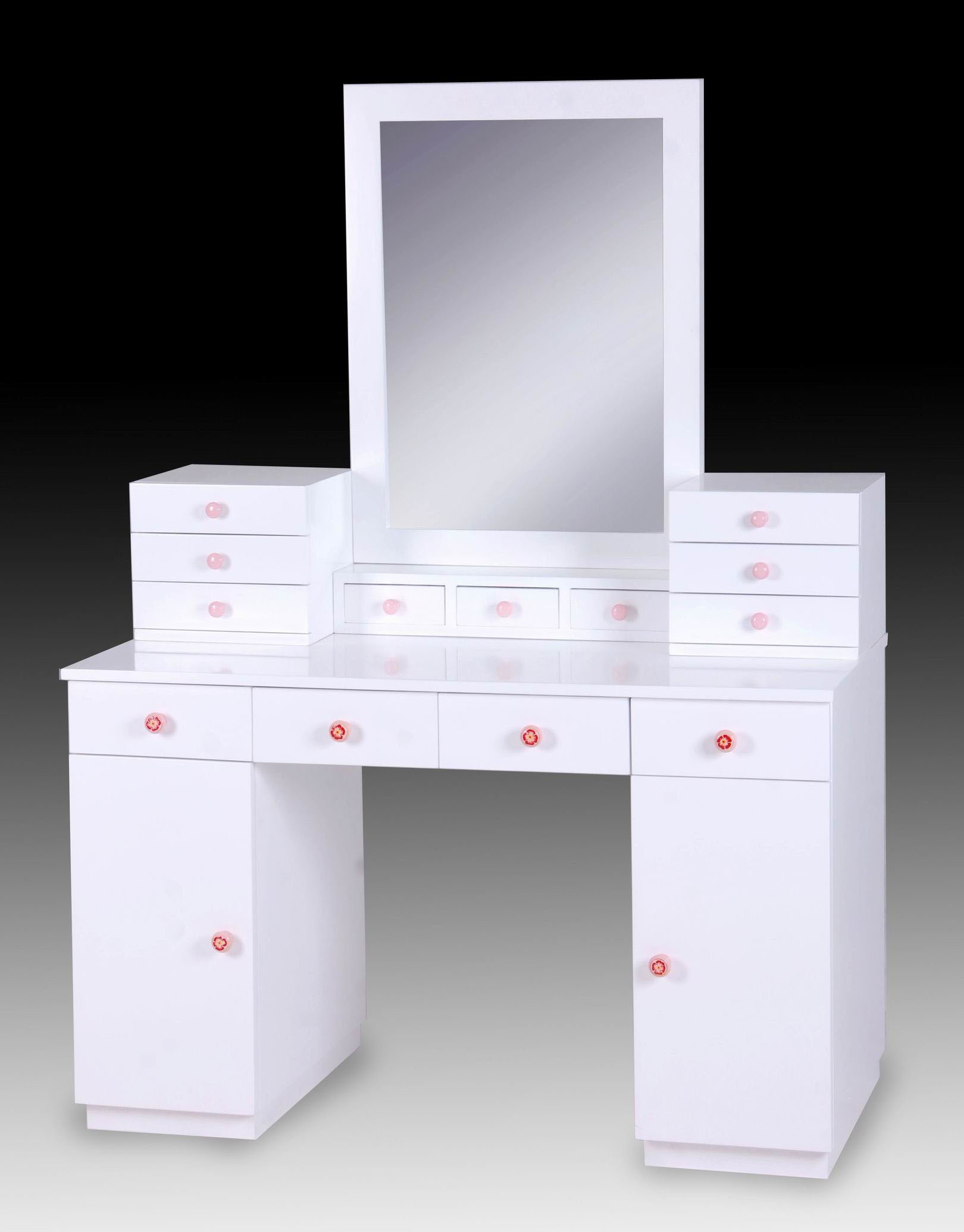 Mirrored Makeup Table | Mirrored Vanity Set | Tri Mirror Vanity Set