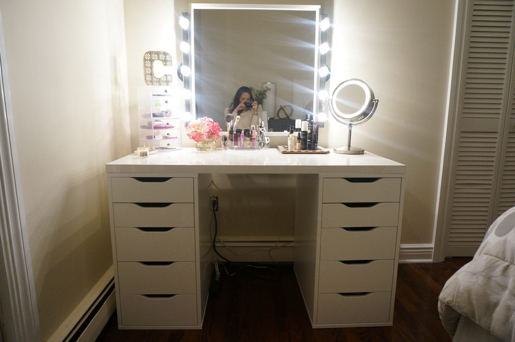 Mirrored Vanity Set | Bedroom Set with Vanity | Mirrored Vanity Dressing Table