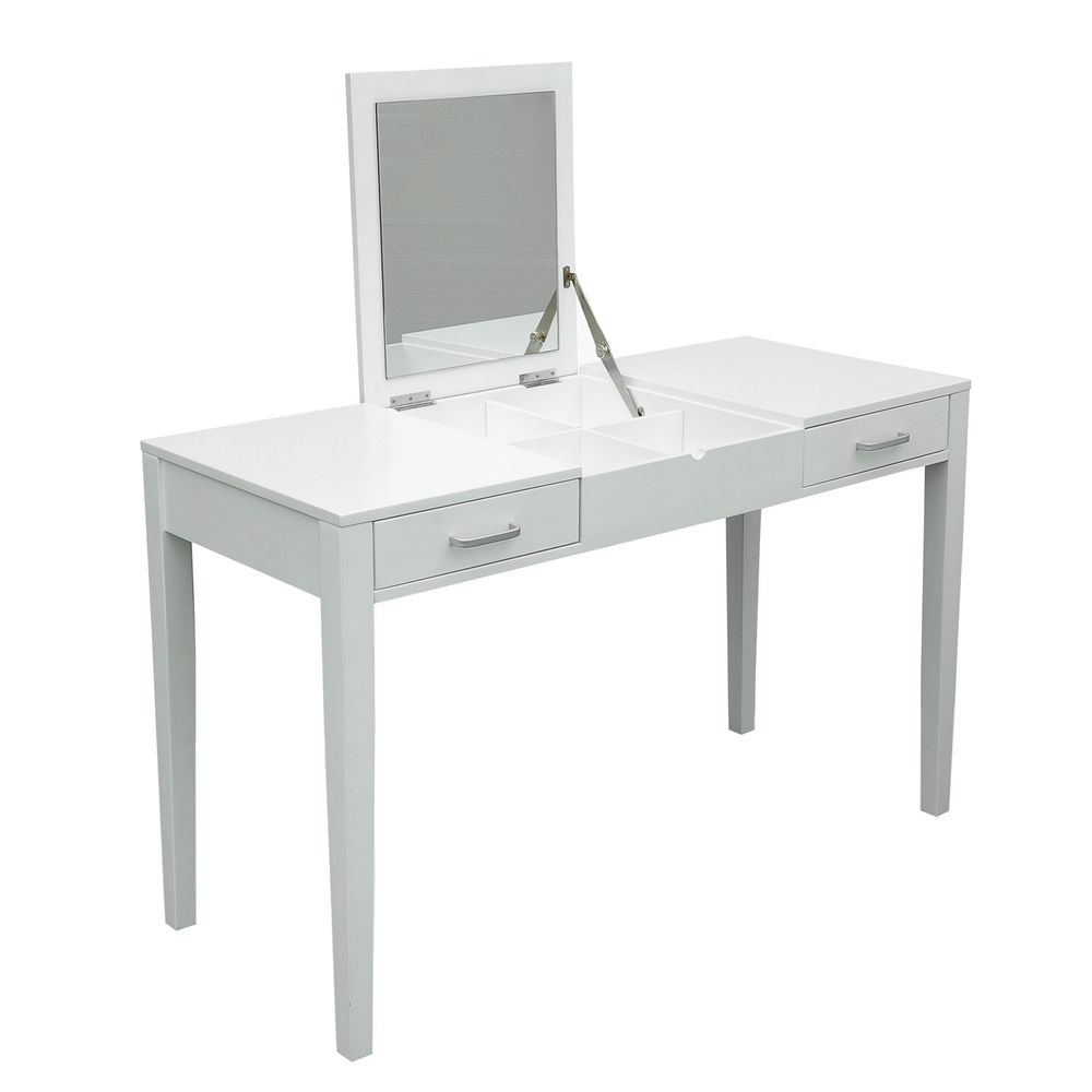 Mirrored Vanity Set | Vanity Mirror and Desk | White Vanity Table with Mirror