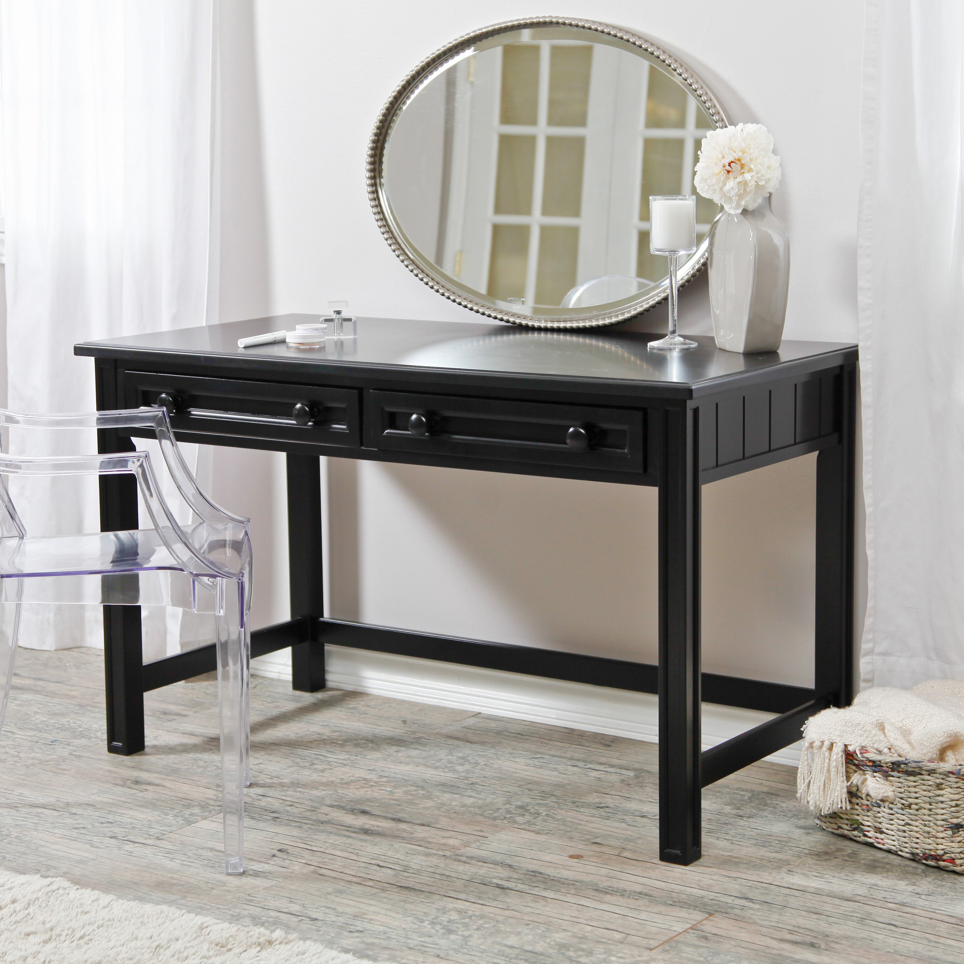 Mirrored Vanity Set | Vanity Set Brush Comb Mirror | Bedroom Vanities with Lights