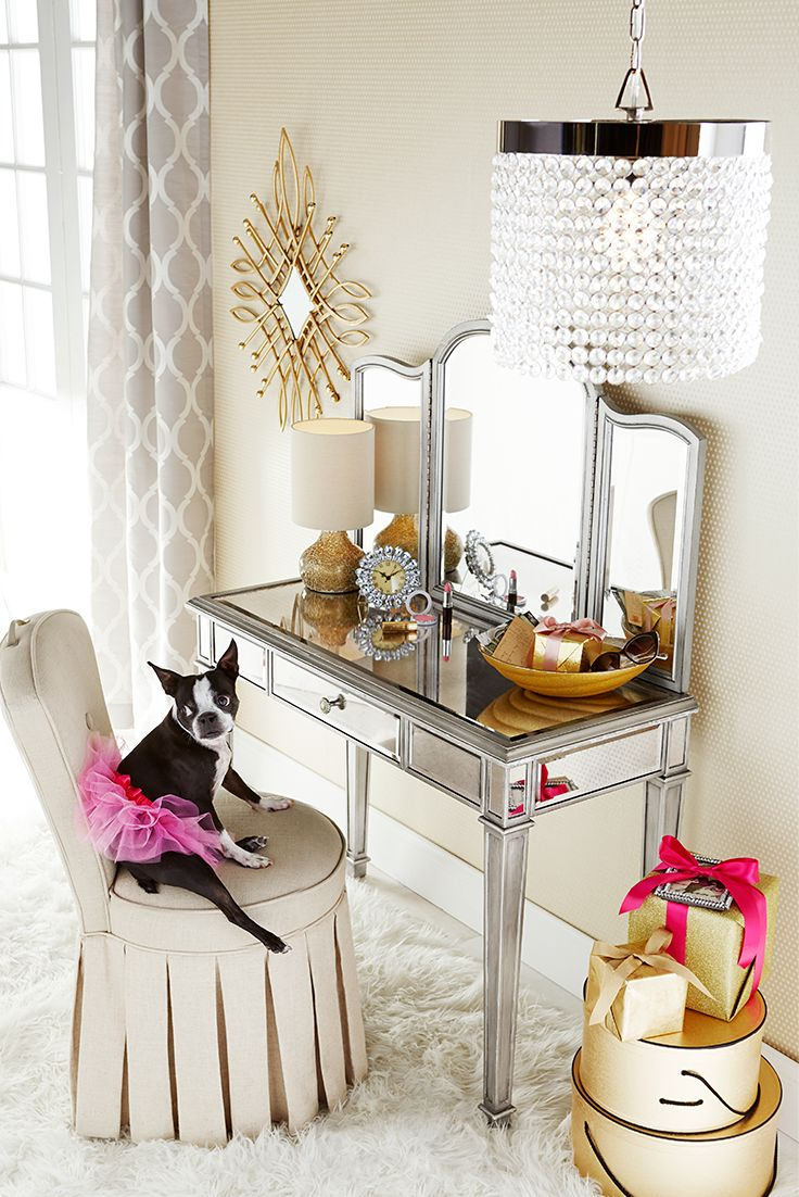 Mirrored Vanity Set | Vanity Set with Lights for Bedroom | Vanities with Mirrors