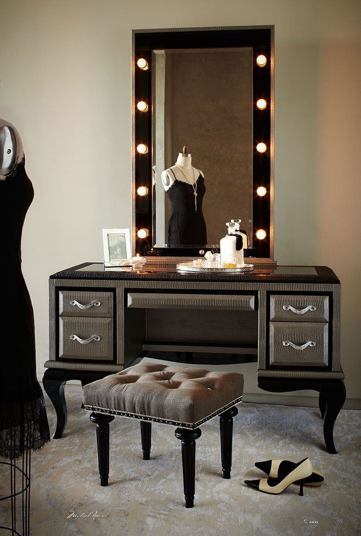 Mirrored Vanity Set | Vanity Table Mirrored | Dresser and Vanity Set