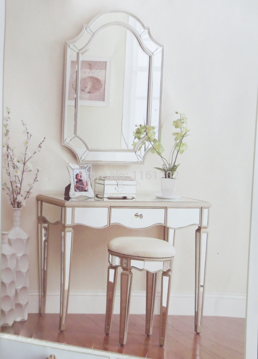 Mirrored Vanity Set | White Vanity Bedroom | Bedroom Vanity Sets for Sale