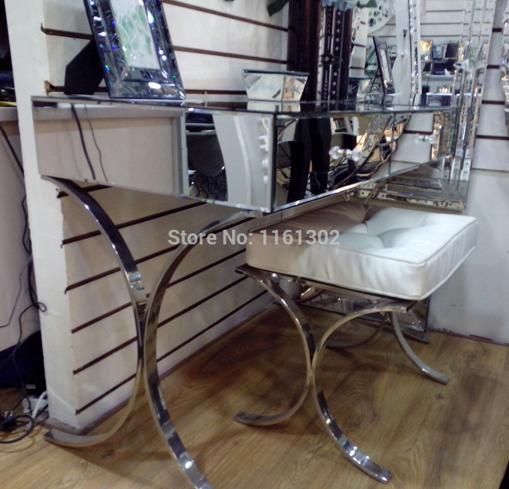 Mirrored Vanity Set | White Vanity Bedroom | Dresser with Vanity Mirror