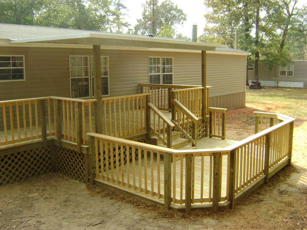 Mobile Home Porch Plans | Mobile Home Porches | Decks with Roofs Pictures