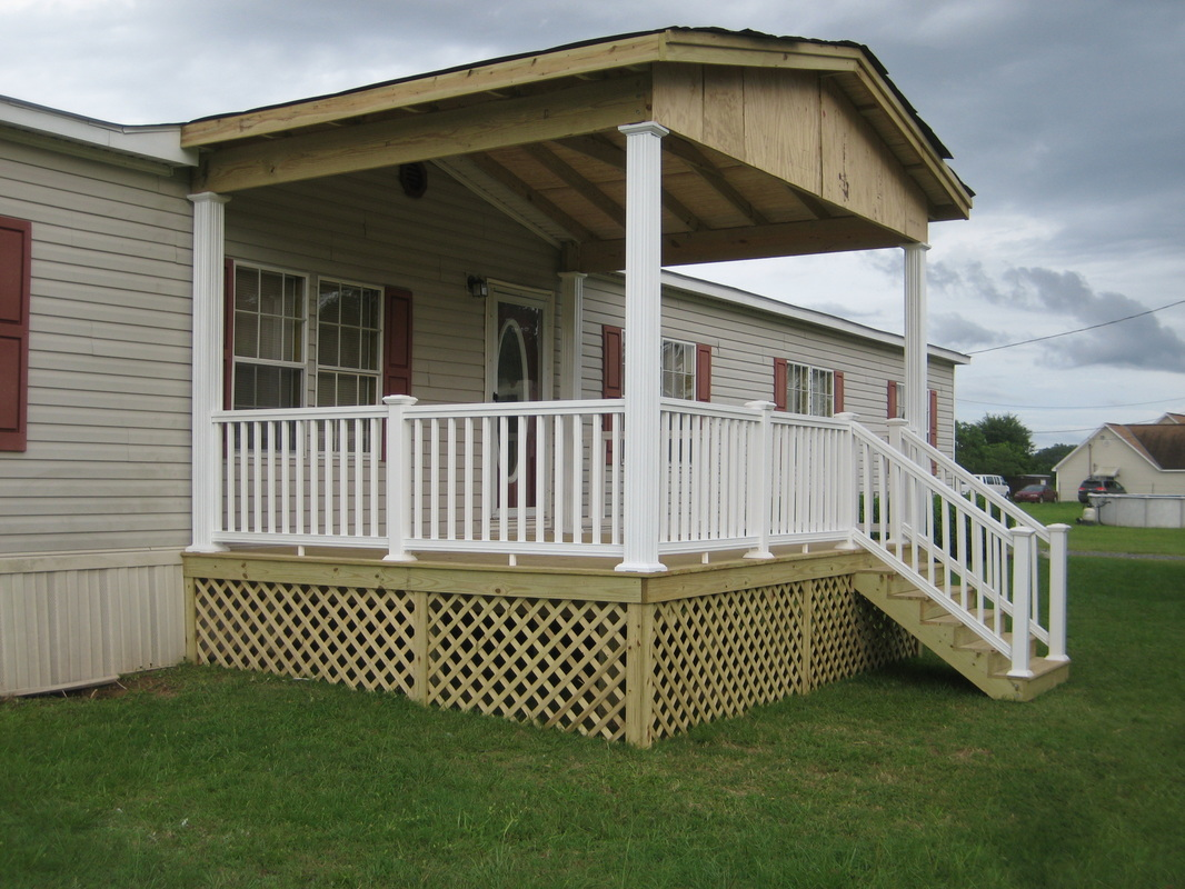Mobile Home Porch Steps | Porch Ideas for Mobile Homes | Mobile Home Porches