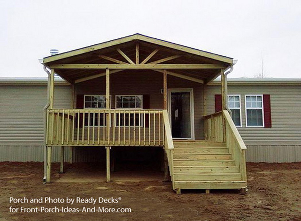 Mobile Home Porches | Deck Kits for Mobile Homes | Covered Back Porch Ideas