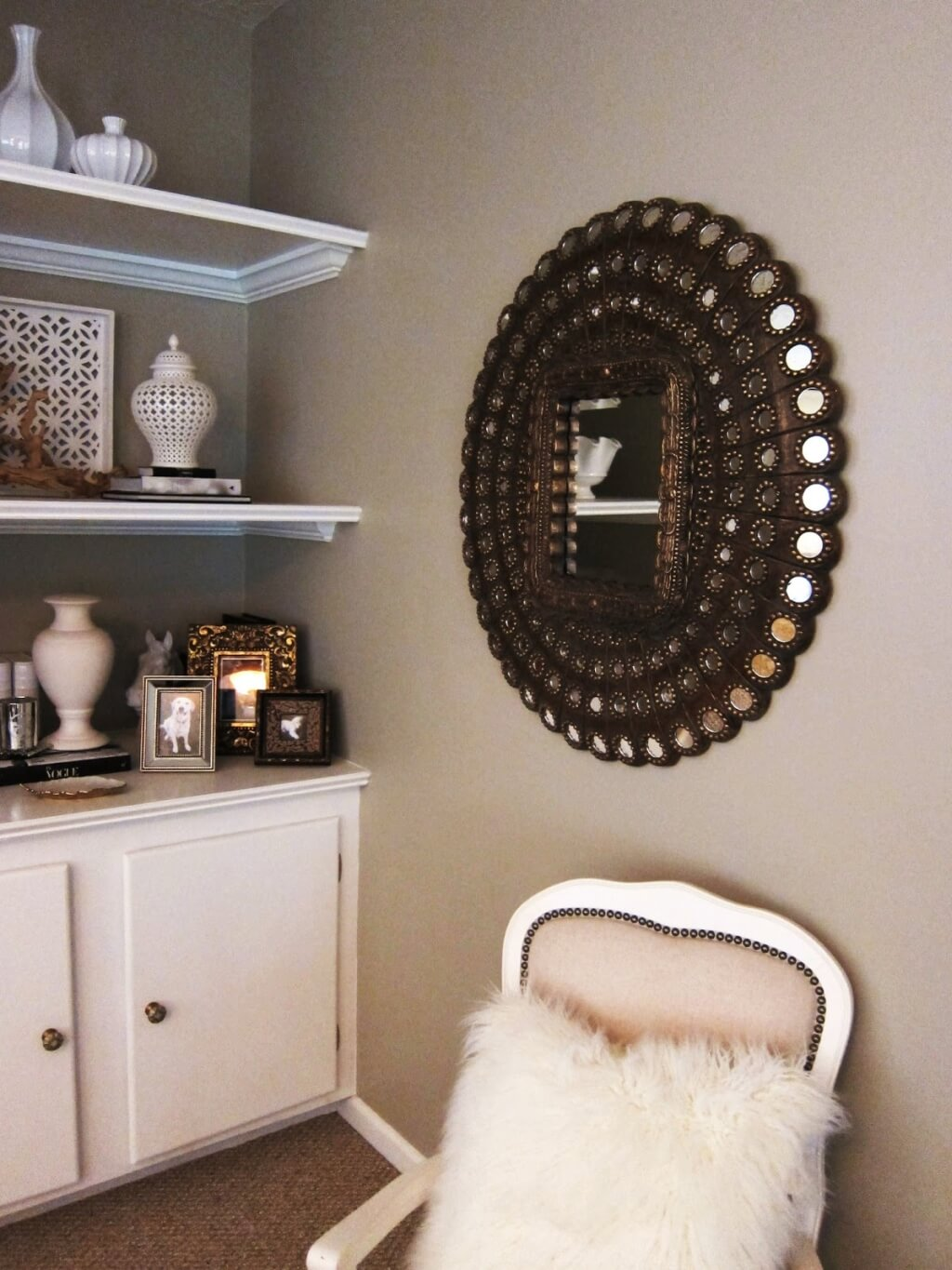 Modern Full Length Mirror | Crate And Barrel Mirrors | Cb2 Round Mirror