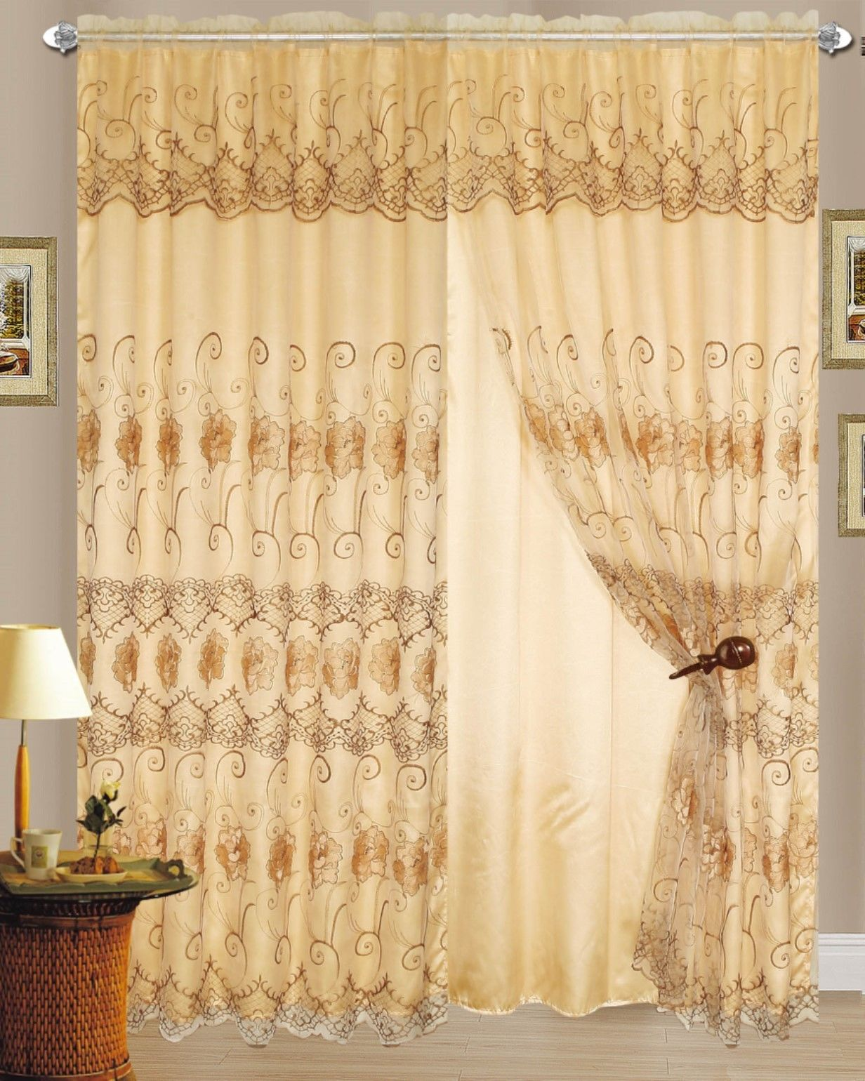 Mustard Curtain Panels | Magenta Curtains Drapes | Embroidered Curtains