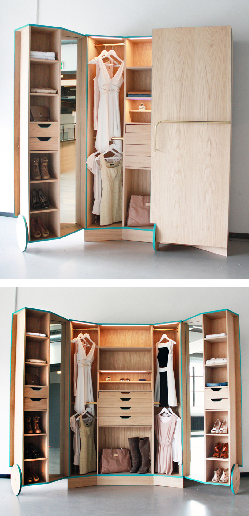 Narrow Armoire | Cheap Wardrobe Closet | Bedroom Armoires Wardrobes