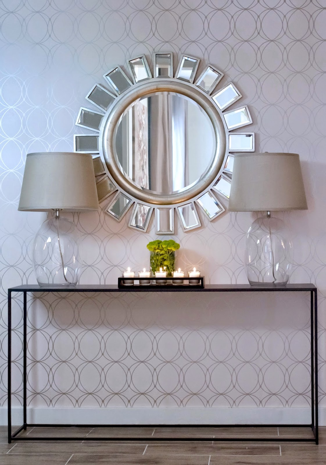Narrow Table For Entryway | Entranceway Decor | Entryway Mirror