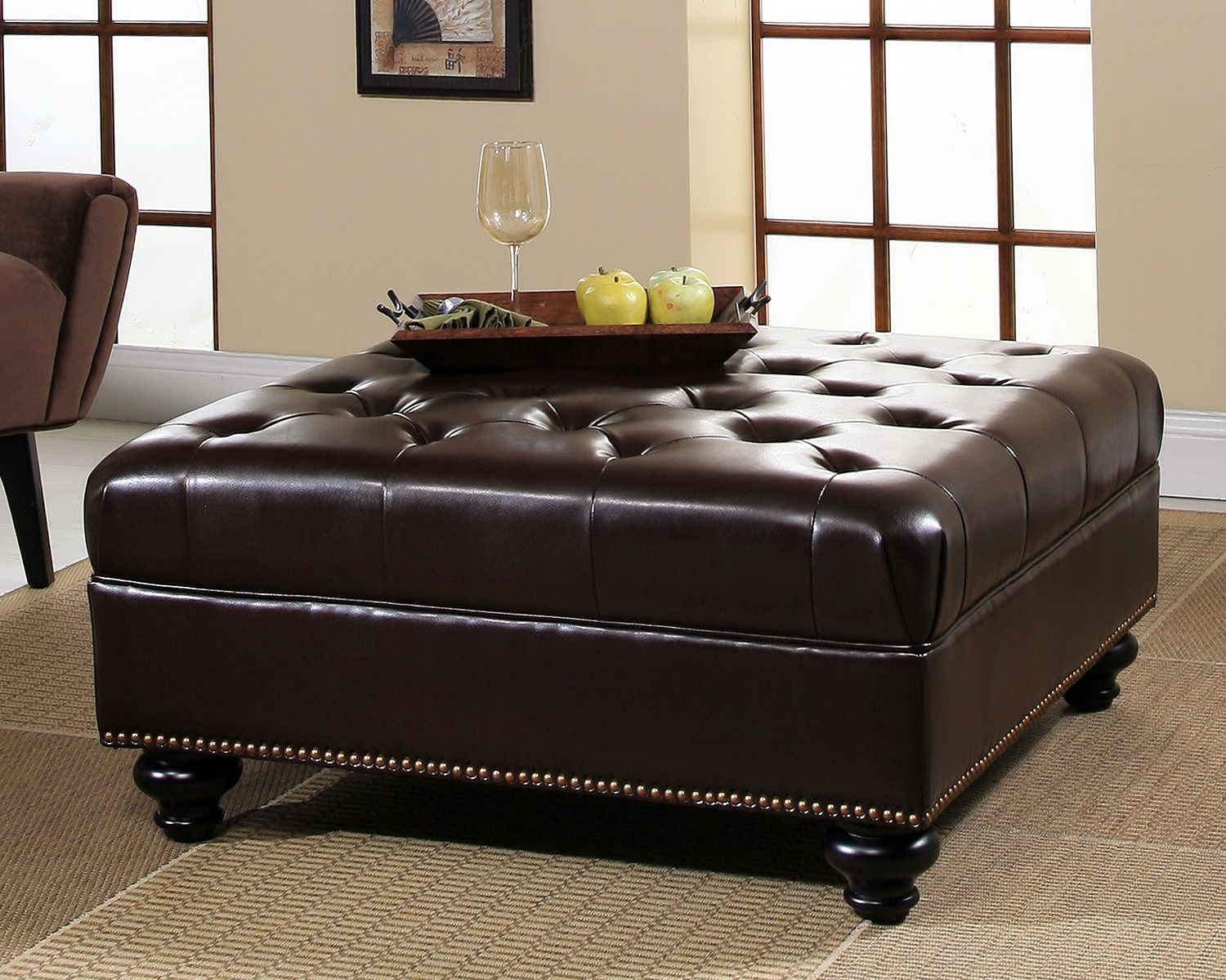 Ottoman Coffee Table Storage | Extra Large Ottoman | Storage Ottoman for Sale