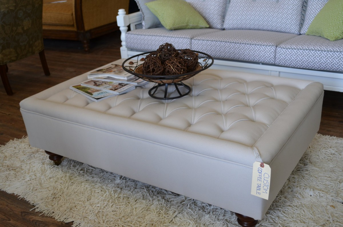 Oversized Leather Ottoman Coffee Table | Extra Large Ottoman | Extra Large Ottoman