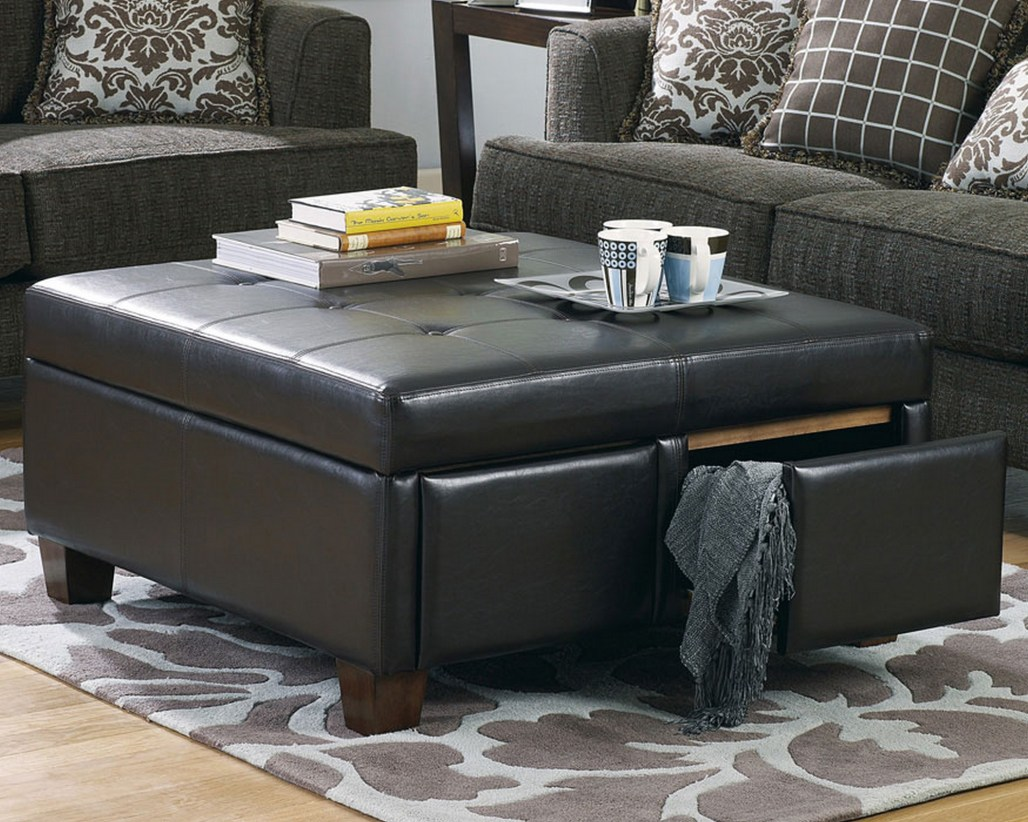 Extra Large Ottoman for Large Space Living Room Design: Oversized Storage Ottoman | Extra Large Ottoman | Tufted Footstool
