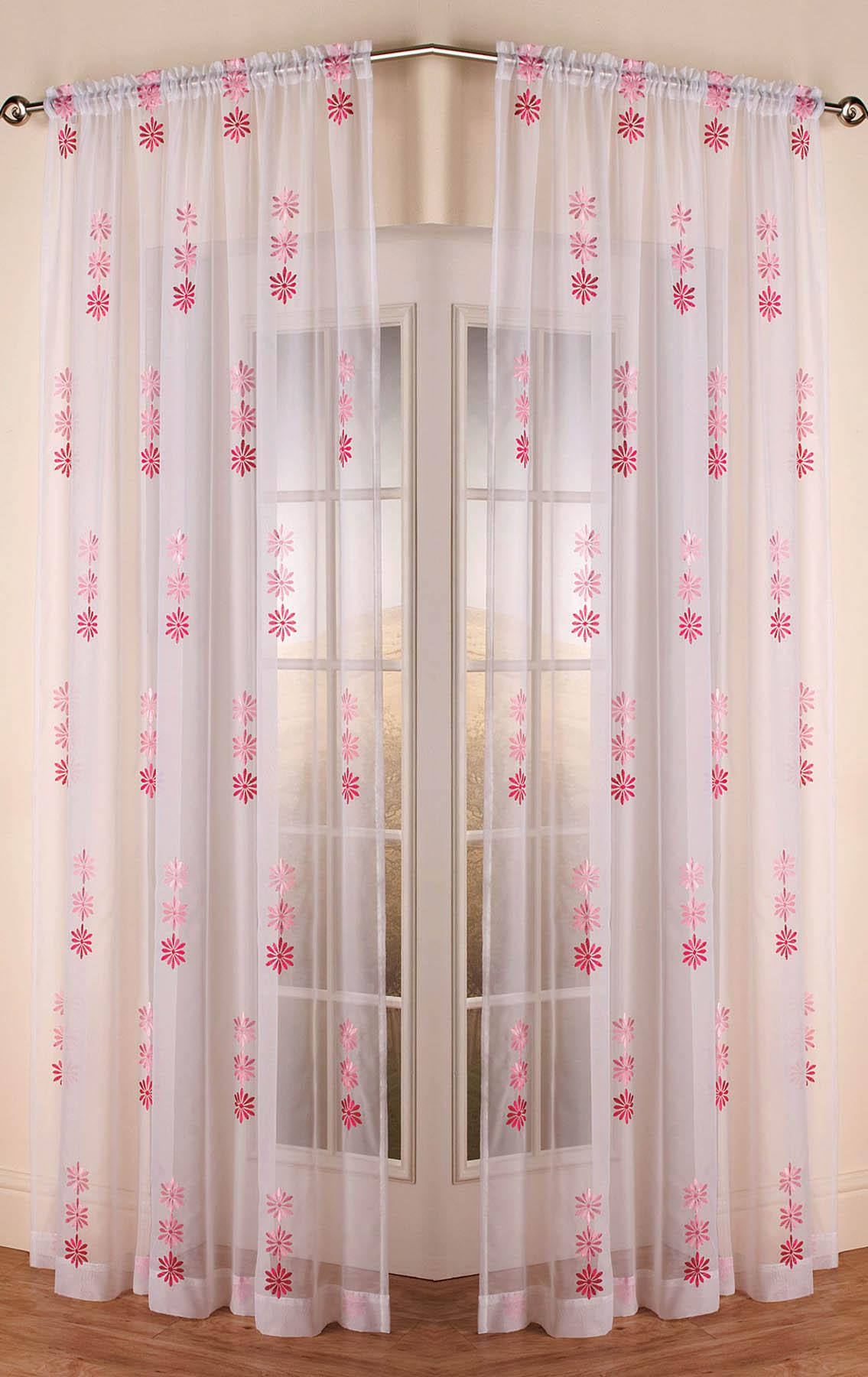 Peach Drapes | Embroidered Curtains | Macrame Drapes