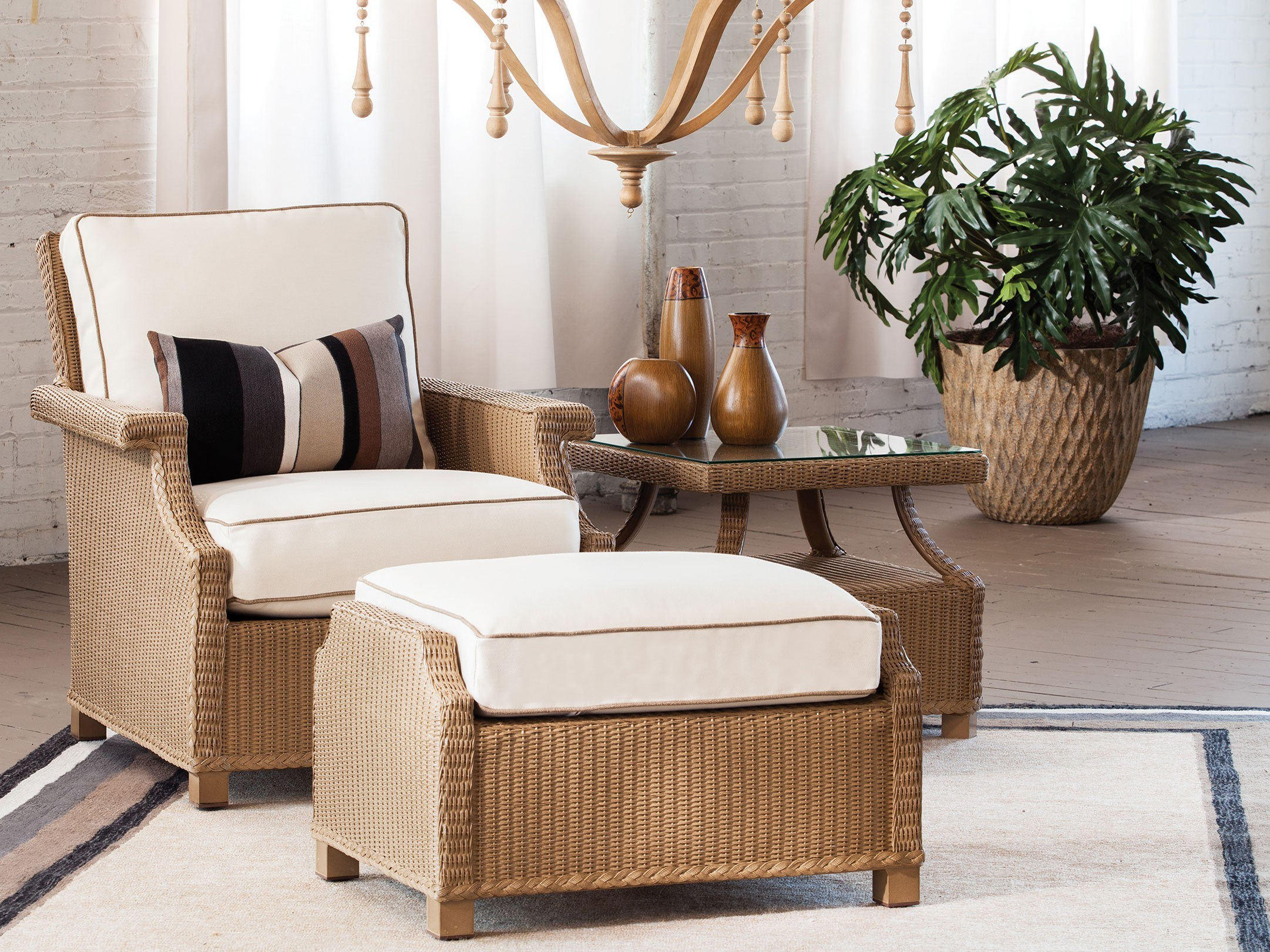 Pier One Ottoman | Pier One Wicker Furniture | Rattan Chairs Pier One