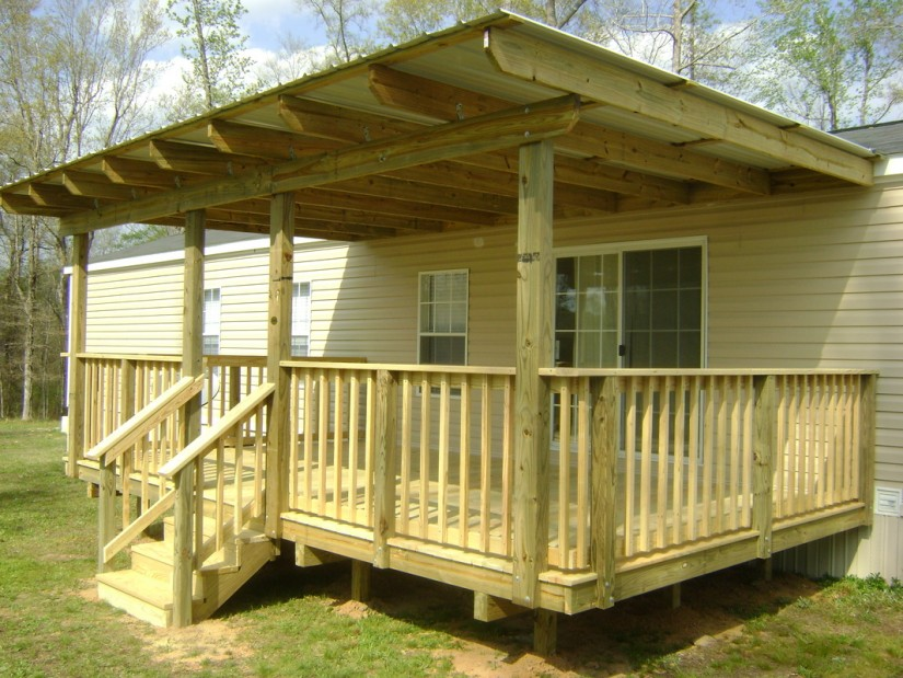 Porch Designs For Ranch Style Homes | Mobile Home Porches | How To Attach A Deck To A Mobile Home