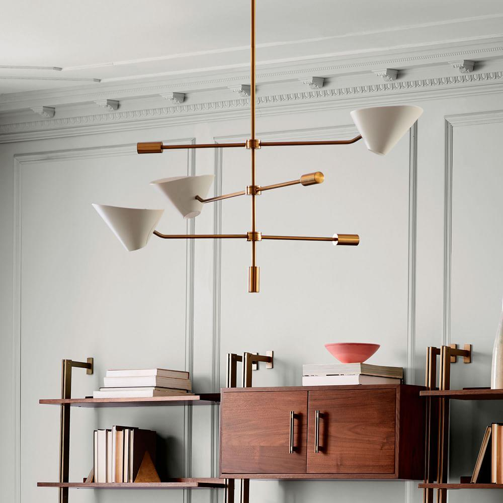 Pottery Barn Ceiling Light | West Elm Pendant | West Elm Chandelier