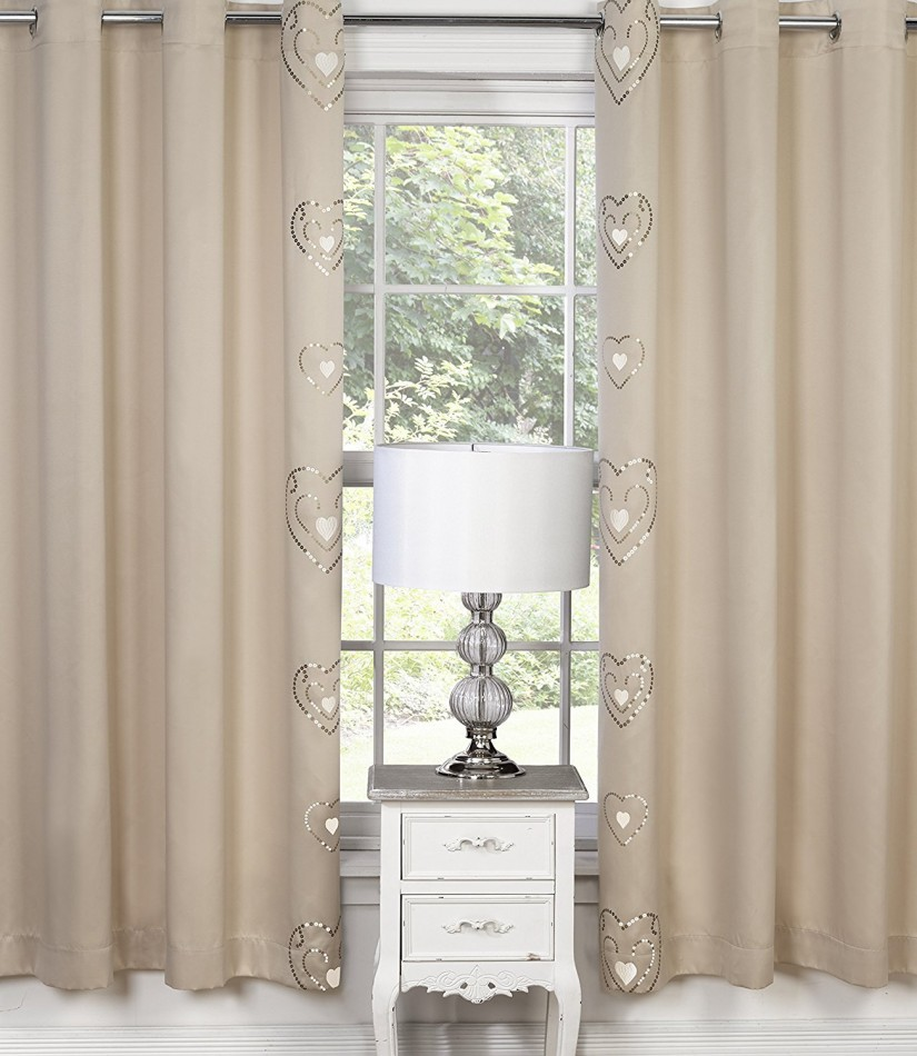 Raspberry Drapes | White And Coral Curtains | Embroidered Curtains