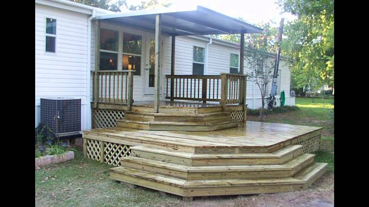 Inspiring Home Design Ideas with Mobile Home Porches: Ready Made Porches | How To Build A Front Porch Overhang | Mobile Home Porches