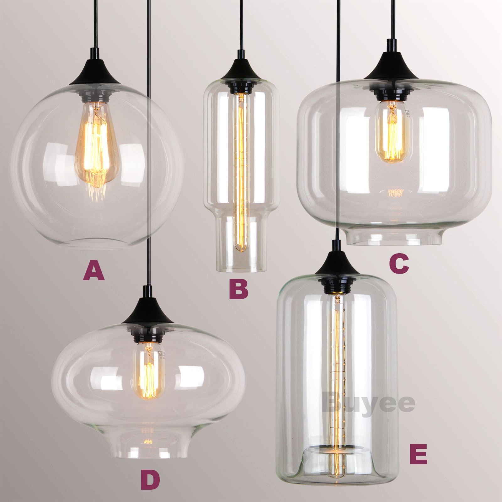 Replacement Pendant Glass Lamp Shades | Lamp Shades Glass Replacement | Glass Chandelier Shades