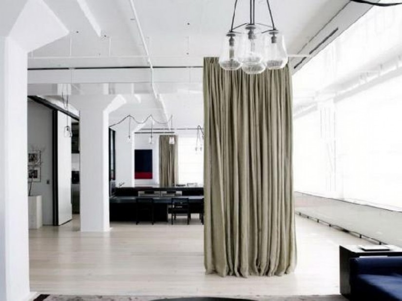 Room Divider Curtains | Curtains As Room Divider | Curtain Room Divider Ikea