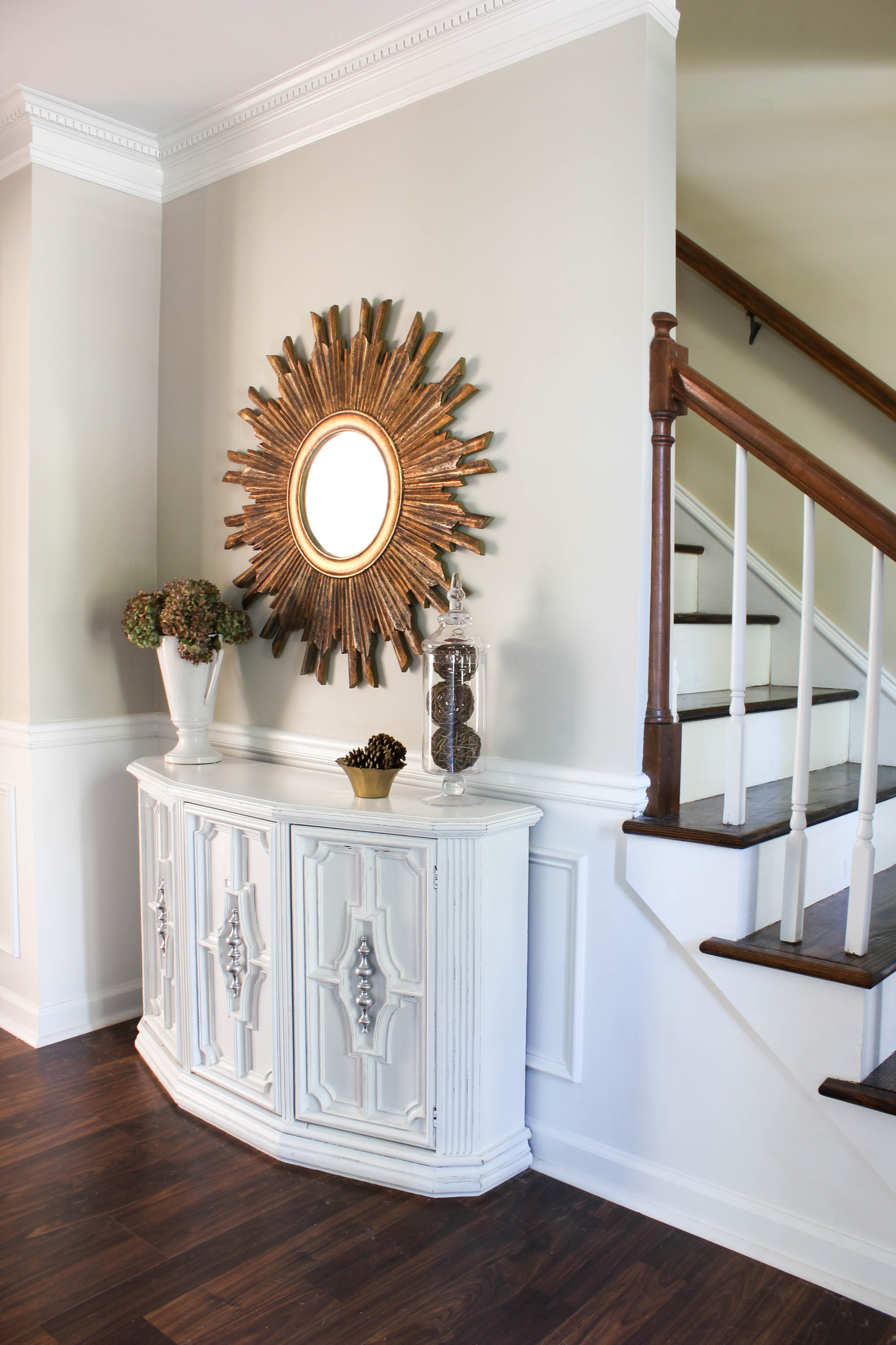 Round Entryway Table | Entryway Mirror Organizer | Entryway Mirror