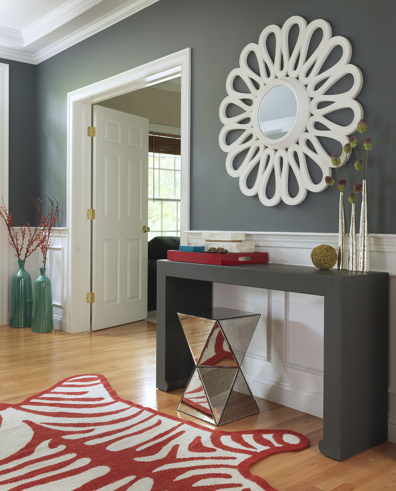 Interesting Entry Room Decor Ideas with Entryway Mirror: Round Table Entryway | Entryway Mirror | Wall Mirror Hooks