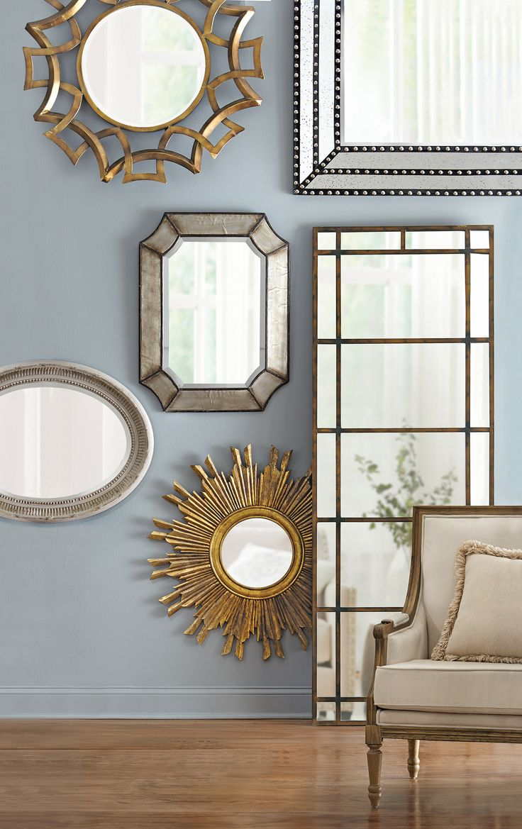 Interesting Entry Room Decor Ideas with Entryway Mirror: Round Table Foyer | Pottery Barn Mirror With Hooks | Entryway Mirror