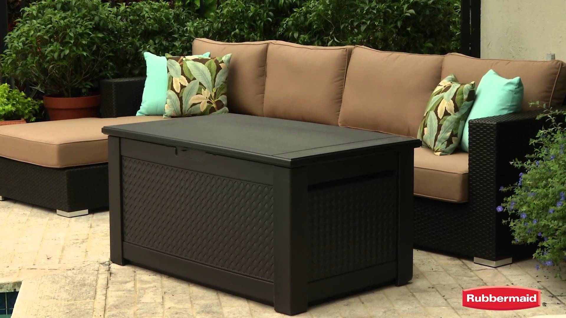 Rubbermaid Bench Storage | Suncast Resin Wicker Deck Box | Rubbermaid Storage Bench