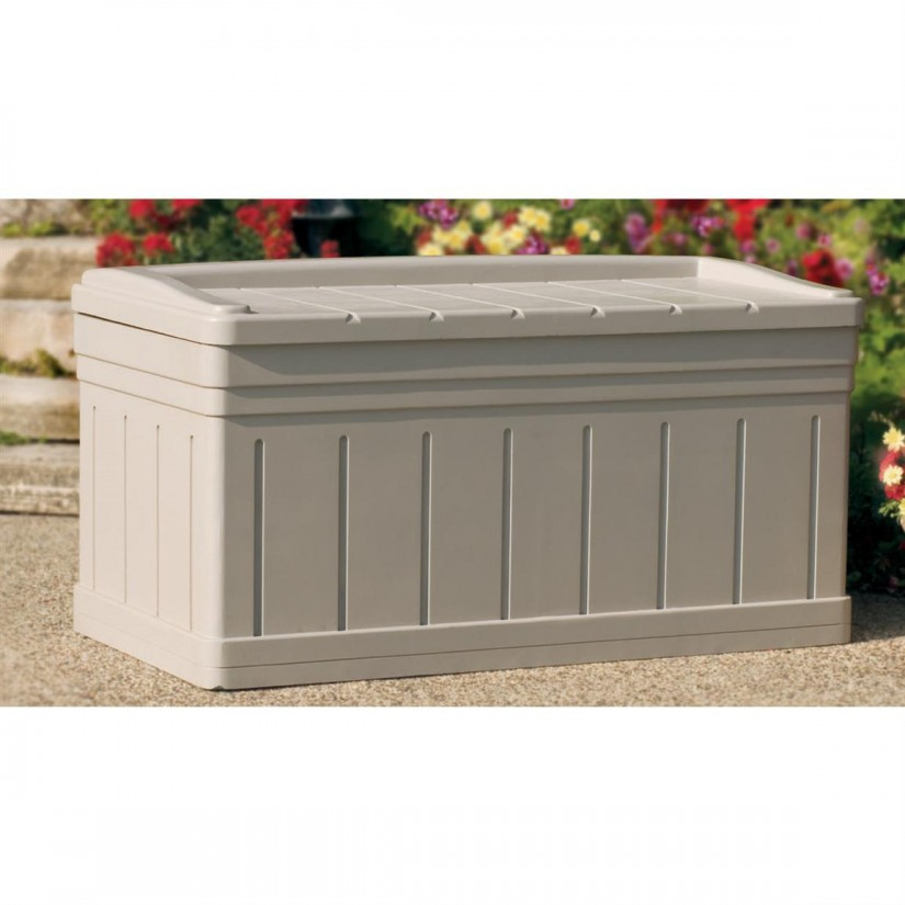 Rubbermaid Outdoor Storage Chest | Home Depot Deck Boxes | Rubbermaid Storage Bench