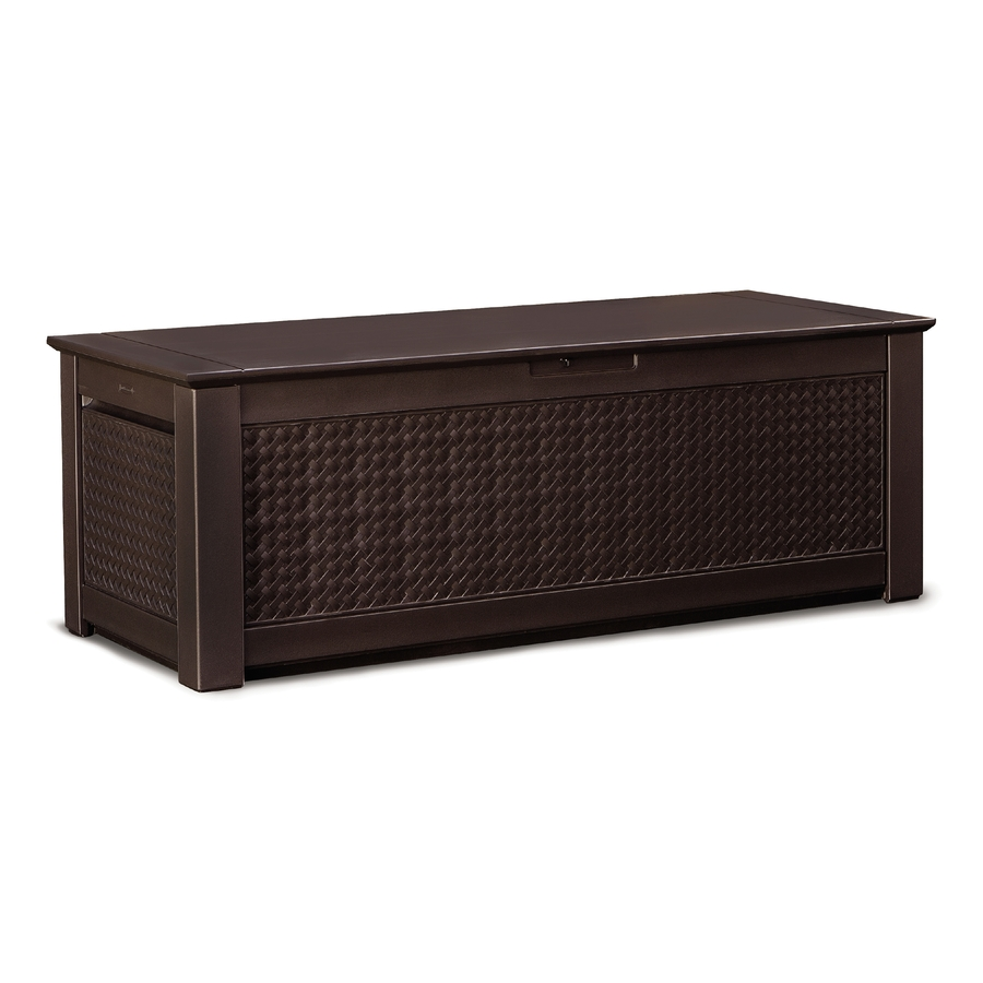 Rubbermaid Storage Bench | Home Depot Patio Storage | Rubbermaid Outdoor Storage Bench