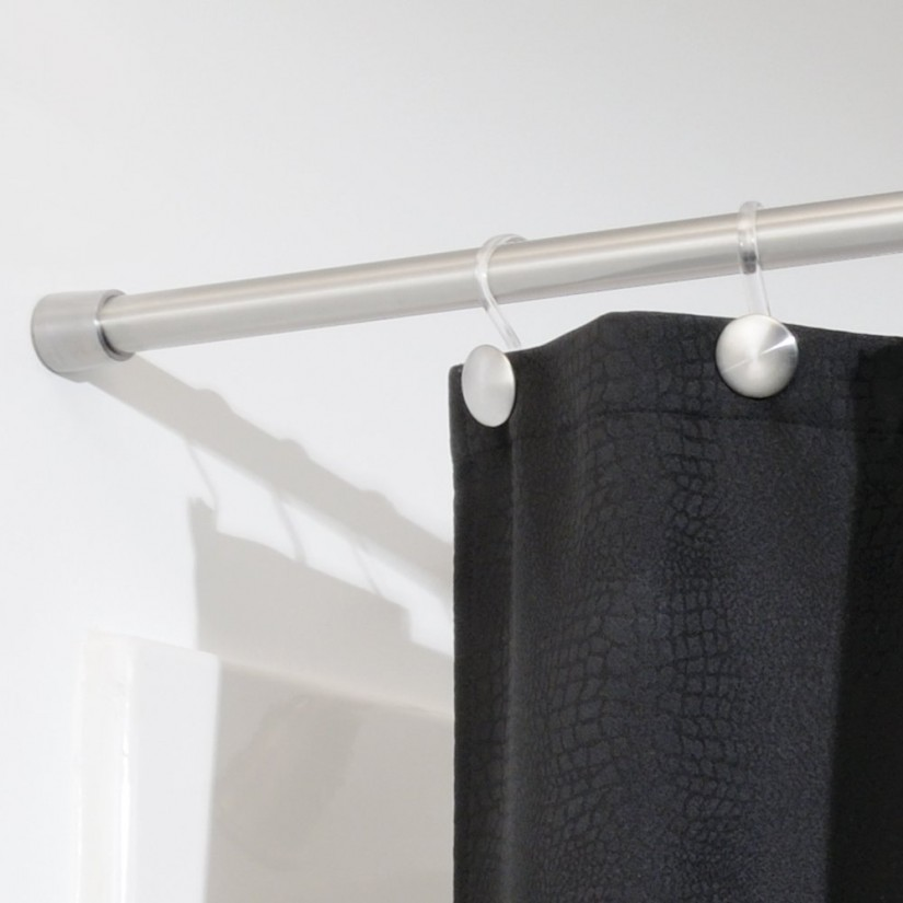 Shower Curtain Rod Curved | Shower Curtain Tension Rod | Dual Shower Curtain Rod